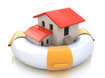安置保险房主保护免受抵押利息鼠 库存例证