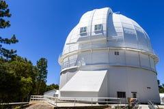 安置历史妓女100英寸望远镜的圆顶在1917 (完成);Mt威尔逊,圣加百利山,洛杉矶县, 图库摄影
