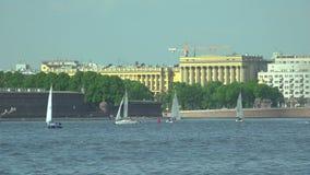 安置和民用建筑学院在圣彼德堡 4K 股票视频