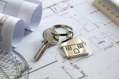 安置钥匙 免版税库存照片