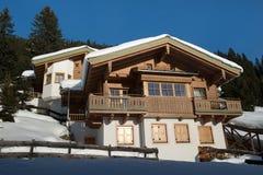 安置在阿尔卑斯山 库存照片