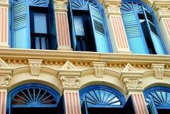 安置塔界面新加坡街道 免版税图库摄影