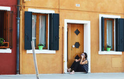 安置威尼斯式 免版税库存照片