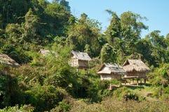 安置密林老挝人 免版税库存图片