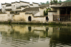 安置惠州被反射的传统水 免版税库存照片