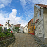 安置挪威老斯塔万格 免版税图库摄影