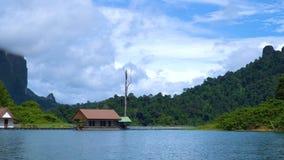 安置湖 在热带森林中的旅游基地 影视素材