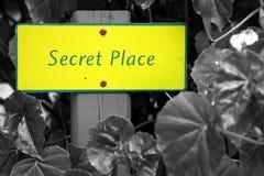 安置秘密 免版税库存图片