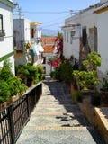 安置西班牙村庄白色 图库摄影