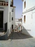 安置西班牙村庄白色 免版税库存图片