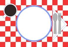 安置餐馆设置 向量例证