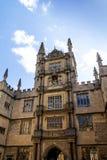安置Bodleian图书馆的五等级的塔在牛津 免版税库存照片