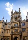 安置Bodleian图书馆的五等级的塔在牛津 免版税库存图片