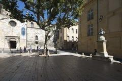 安置d'Université,艾克斯普罗旺斯,法国 库存照片