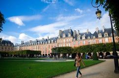 安置des Vosges广场,巴黎 免版税图库摄影