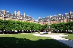 安置des Vosges,巴黎 库存照片