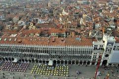 安置marco广场威尼斯式的圣 图库摄影