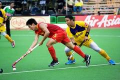 安置s的2009个第3个亚洲杯子曲棍球人 免版税库存照片