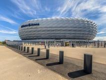 安联球场体育场正方形慕尼黑 免版税库存图片