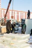 安装块的俄国兵马俑 库存照片