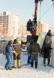 安装块的俄国兵马俑 免版税图库摄影