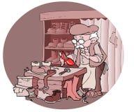 安装工鞋子 库存照片
