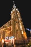 安装的小传统木教会的地方 免版税库存图片