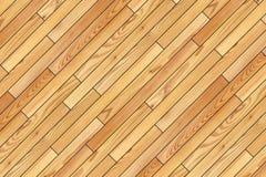 安装的米黄木条地板有一个角度 免版税库存照片