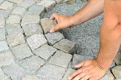 安装石头块 库存照片
