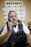治安警卫在工作 免版税库存照片