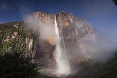 安赫尔瀑布在委内瑞拉 免版税库存图片