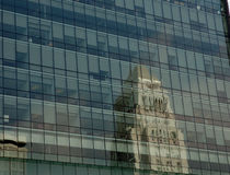 安赫莱斯市政厅los反映 免版税库存图片