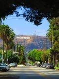 安赫莱斯・加利福尼亚好莱坞图标式&# 免版税库存图片