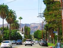 安赫莱斯・加利福尼亚好莱坞图标式&# 免版税图库摄影