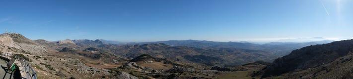 安达卢西亚全景从El Torcal的 免版税库存照片