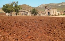 安达卢西亚的农舍废墟在阿尔梅里雅 Cortijo del Fraile 西班牙 库存照片