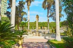 安达卢西亚的庭院在开罗,埃及 免版税库存图片