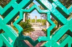 安达卢西亚的庭院通过阿拉伯星,开罗,埃及 免版税库存图片
