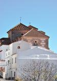 安达卢西亚的教会农村典型 免版税库存图片