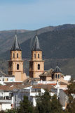 安达卢西亚的村庄Orgiva,西班牙 免版税库存图片