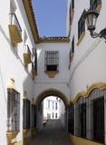 安达卢西亚的段落美丽如画的城镇 库存图片
