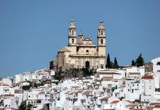 安达卢西亚的镇Olvera,西班牙 免版税库存图片