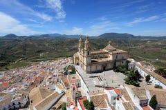 安达卢西亚的镇Olvera,西班牙 库存照片