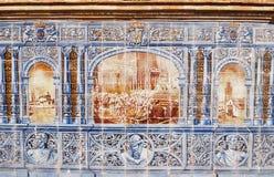 安达卢西亚的陶瓷海报 免版税库存图片