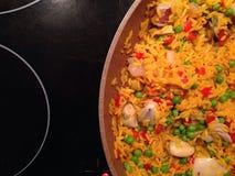 安达卢西亚肉菜饭  库存图片