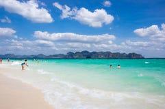 安达曼海海岸  免版税图库摄影