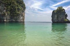安达曼海海滩在PhiPhi海岛, Turistic paraise在泰国 免版税库存图片