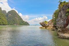 安达曼海的海岸线 库存图片