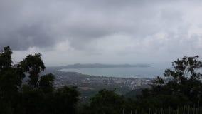 从安达曼海的高度的看法 免版税库存图片