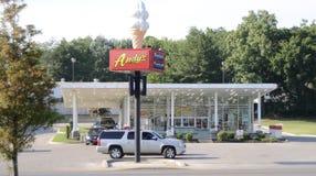 安迪` s冷冻蛋糕立场, Jonesboro,阿肯色 免版税库存图片